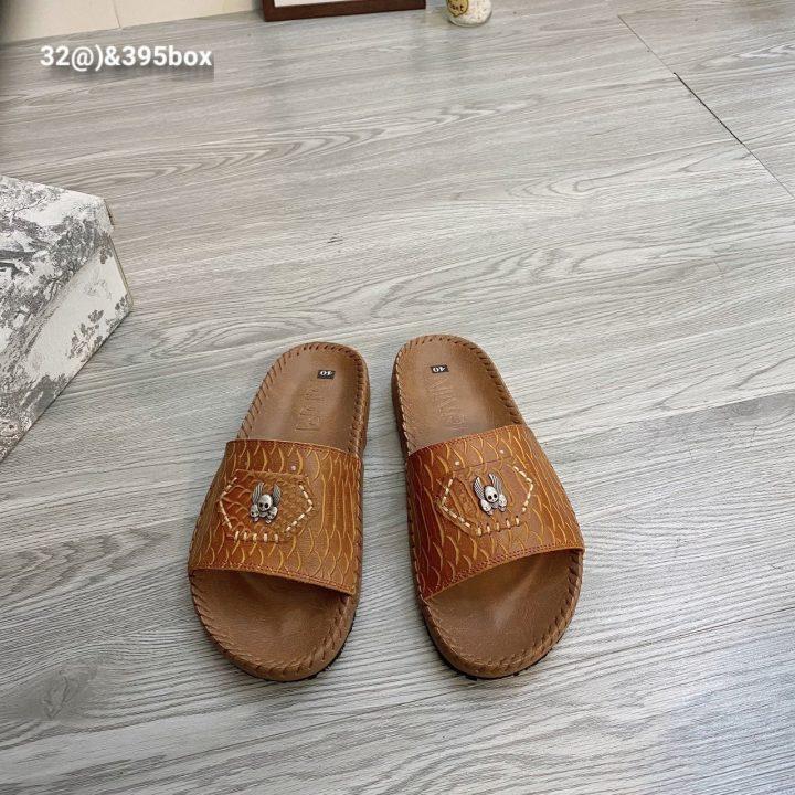 Dép da rắn vân nâu - Xưởng sản xuất giày dép da Phương Anh