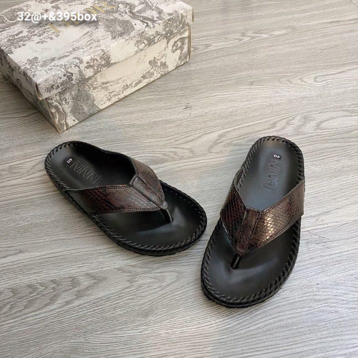 Dép quai chéo da rắn - Xưởng sản xuất giày dép da Phương Anh