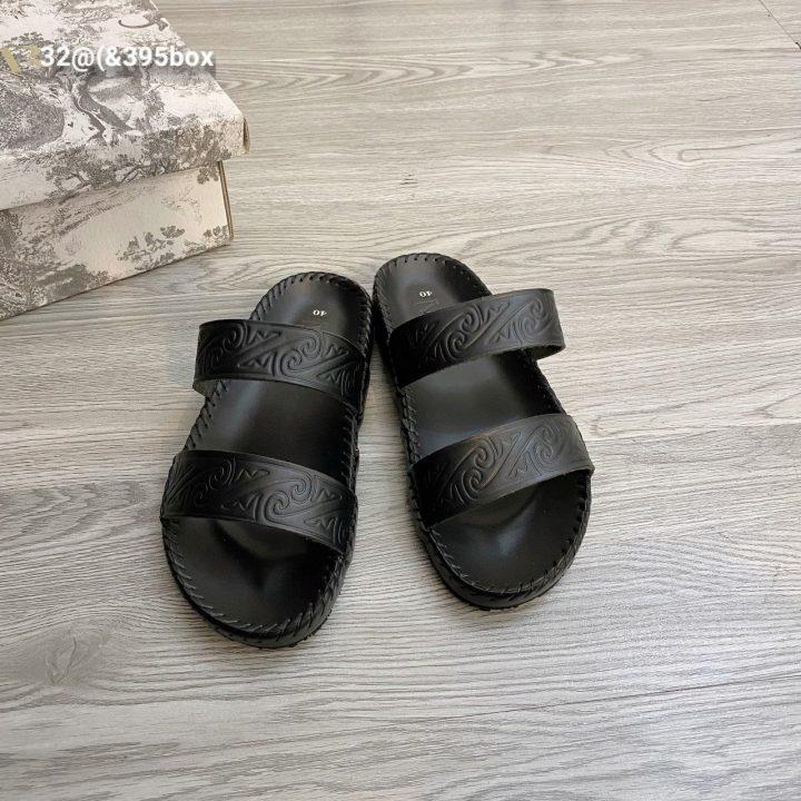 Dép 2 quai họa tiết - Xưởng sản xuất giày dép da Phương Anh
